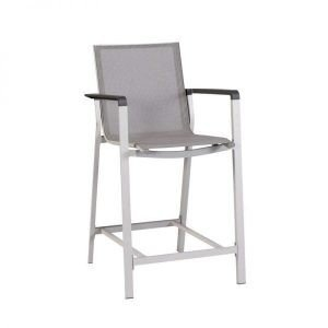 Magic bar set Exotan aluminium and textilene bar chair