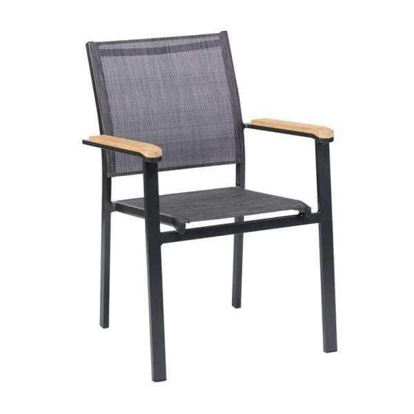 Memphis tuinstoel aluminium   Global Furniture Webshop