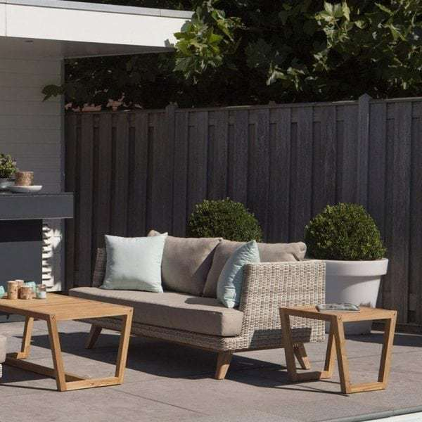 Arosa wicker en teak 2 zit lounge tuinbank global furniture webshop - Lounge sfeer ...