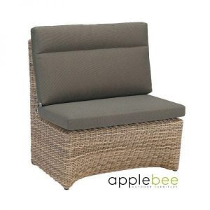 Esquina modular dining loungeset middle part wicker