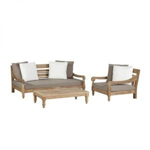 Kawang XL lounge set recycled teak van Exotan