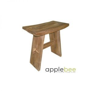 Root Items Chinese Stool teak houten bijzettafel