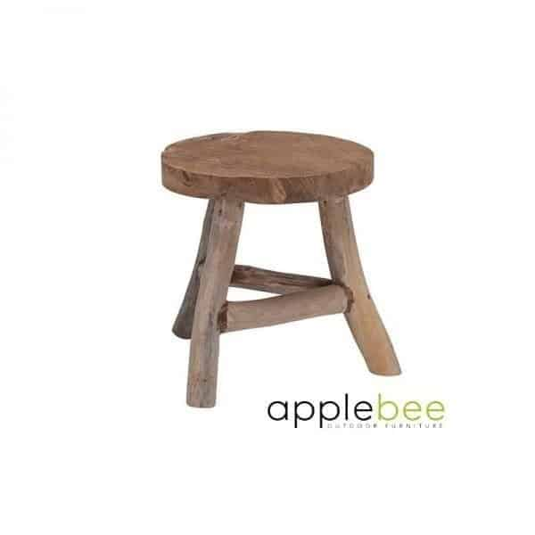 Teak Houten Bijzettafeltje.Root Items Rooty Teak Houten Bijzettafel Van Applebee Global