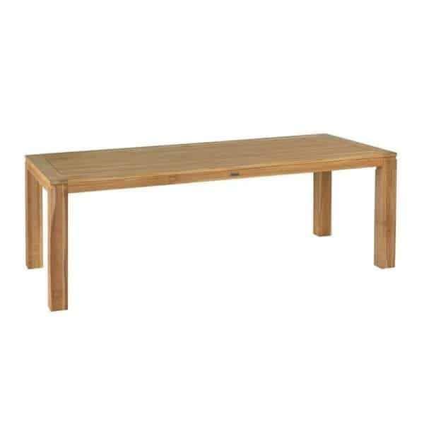 Stella FSC teak garden table wide boards