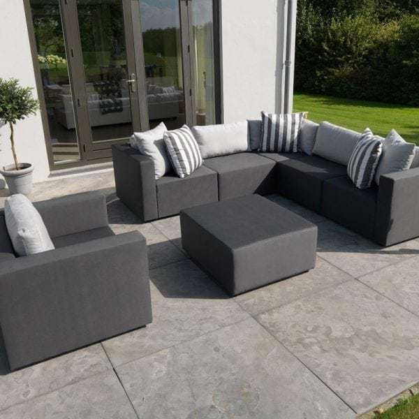 Triniti maxx silvertex garden lounge middle section by exotan global furniture webshop - Lounge sfeer ...