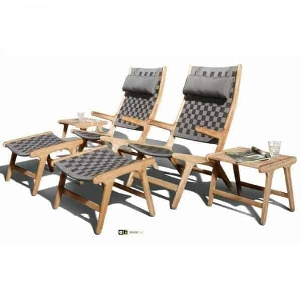 Juul lounge stoel highback teak en olefin van applebee global furniture webshop - Lounge sfeer ...