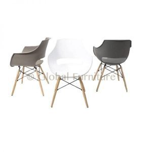 New York design tub chair plastic with spider frame