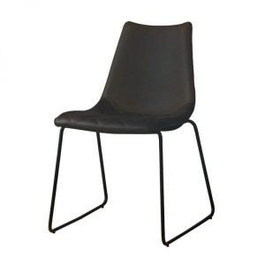 Lerida PU leather dining chair anthracite