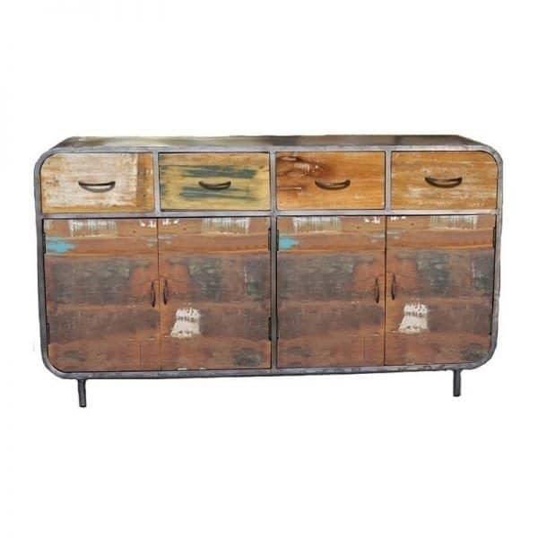 Lotte kleurrijk industrieel dressoir 160 cm