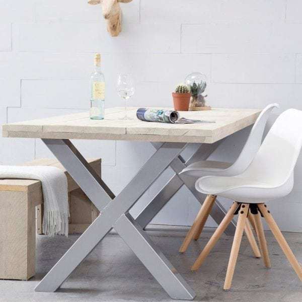 Steigerhouten tafel pick and mix collectie global for Tafel samenstellen