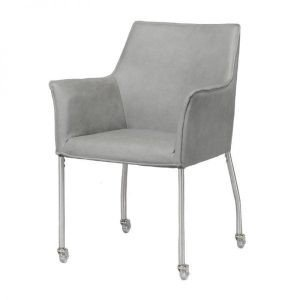 Yuri Dining room armchair with wheels