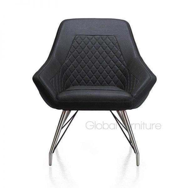 Daimian retro design fauteuil met spinpoot