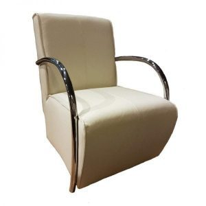 Eddy modern armchair fabric and leather