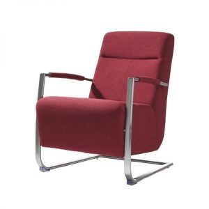 Kassel armchair Stainless steel in fabric or leather