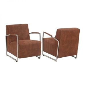 Nr 215 modern armchair Stainless steel in fabric or leather