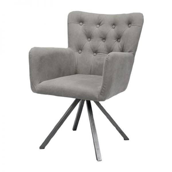 Holmes comfort Eetkamer draaifauteuil met RVS frame
