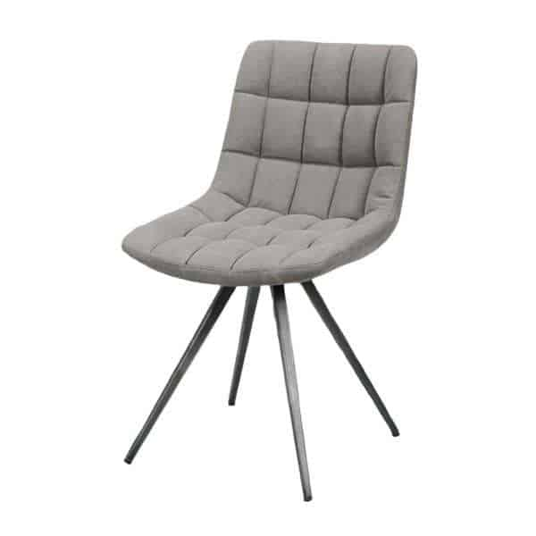 Checker vintage dining chair with steel frame