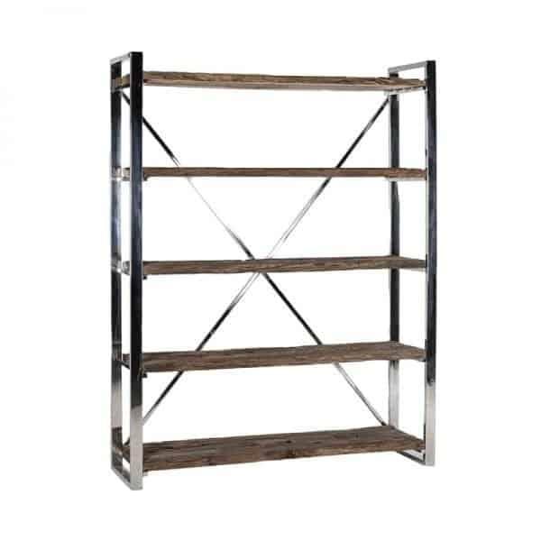 Kensington boekenkast gerecycled hout - Global Furniture Webshop