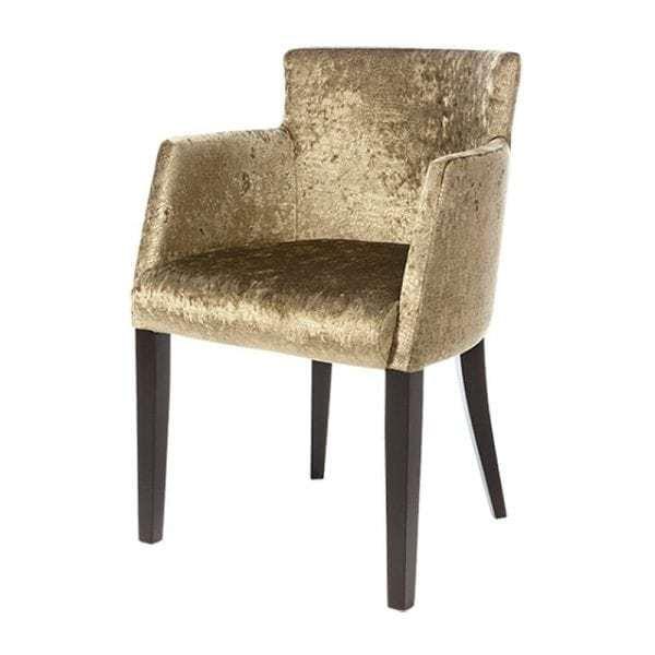 Soho stoel met ronde rugleuning stof of leer