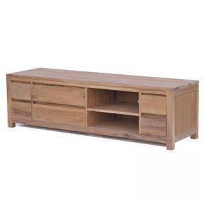 Corona tv meubel 6 laden onbewerkt teakhout