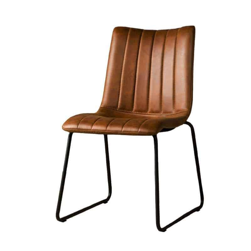 Sensational Bunol Industrial Dining Chair Metal And Textile Alphanode Cool Chair Designs And Ideas Alphanodeonline