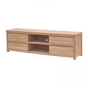 Corona Tv meubel onbewerkt teak hout