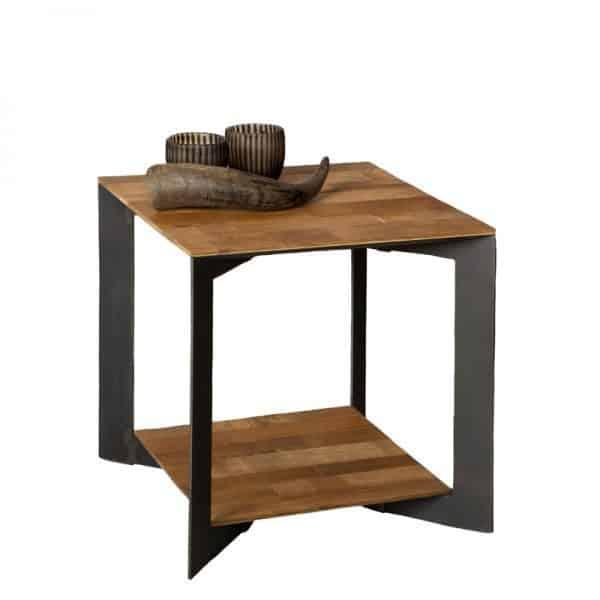 Strange Pandora Side Table Recycled Teak And Metal Inzonedesignstudio Interior Chair Design Inzonedesignstudiocom