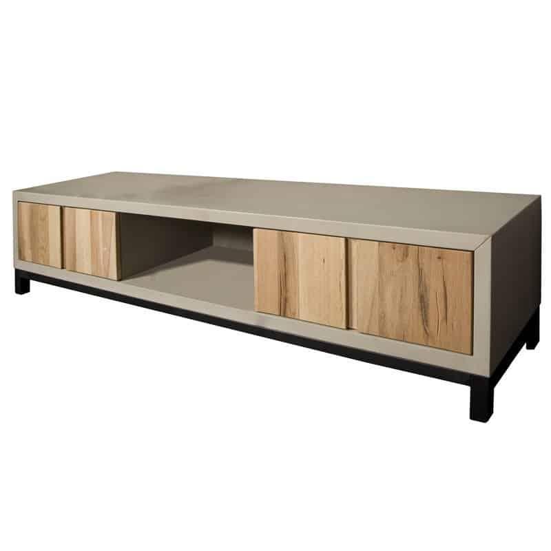 Vol Eiken Tv Kast.Max Tv Meubel Massief Eiken Met Betonlook Global Furniture