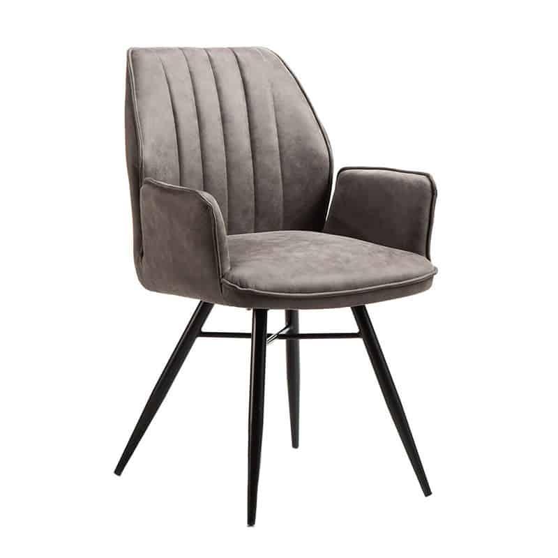 Clark Moderne Eetkamerstoel Stof Metaal Global Furniture