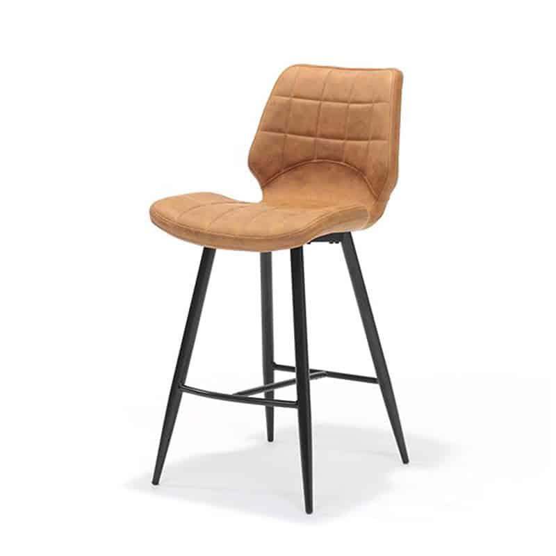 Eetkamerstoel Sturdy Cognac.Bergamo Sturdy Bar Stool Low Global Furniture Webshop