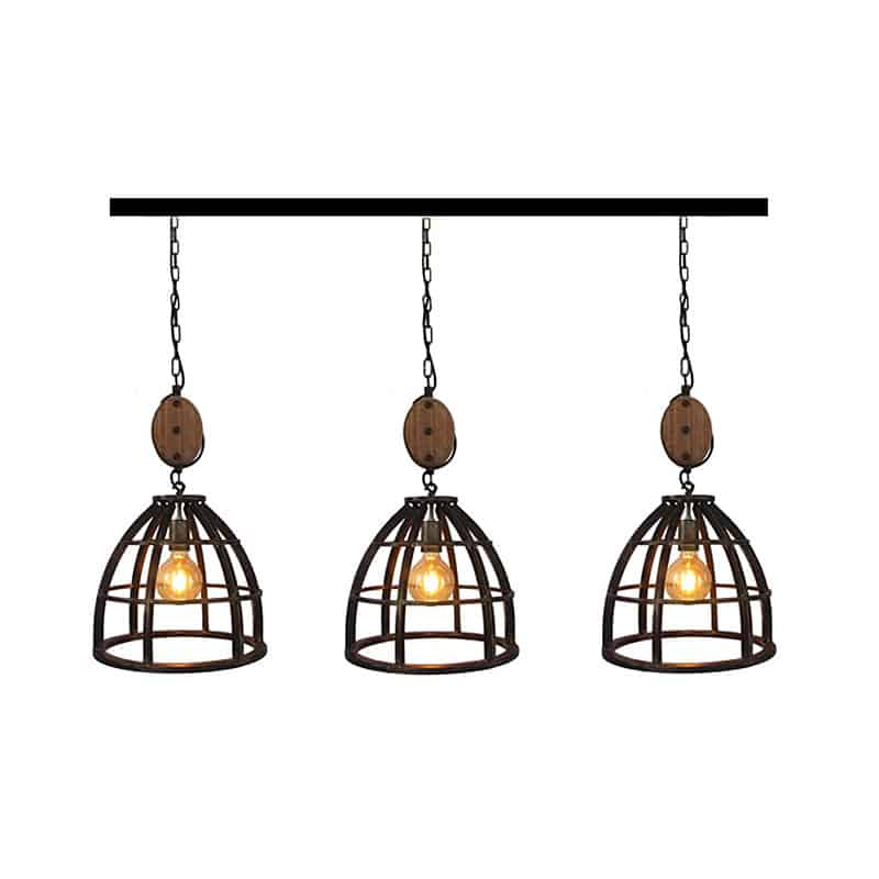 Stoere 3 Lichts Hanglamp Lucca
