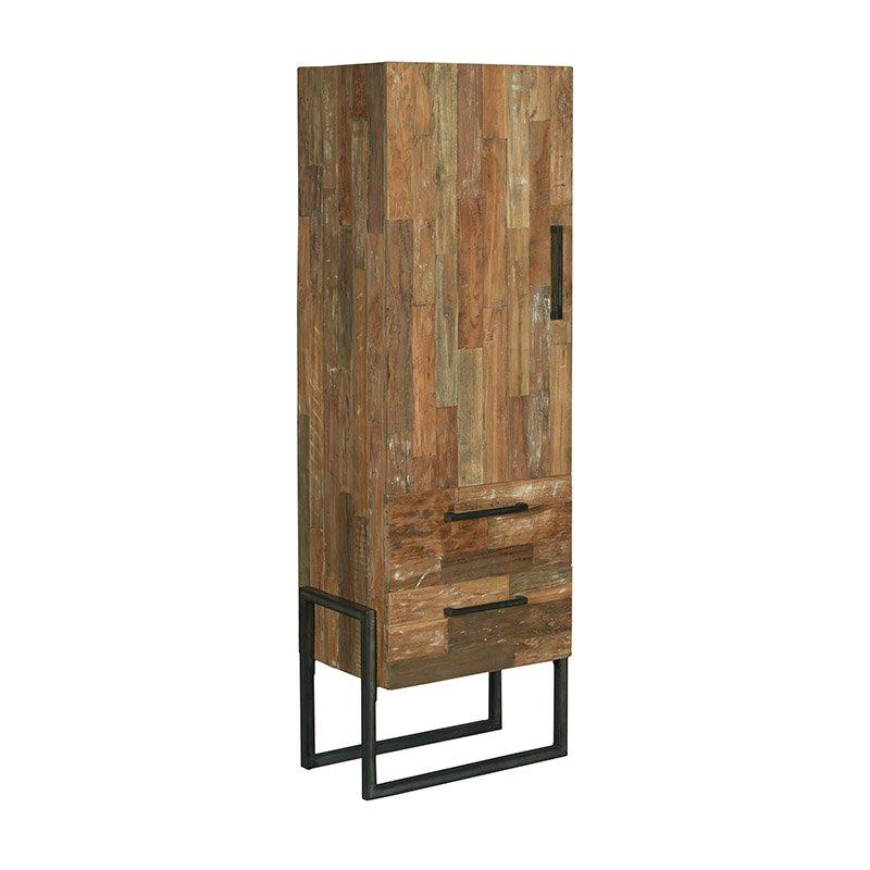 Kast Wit Smal.Potenza Storage Cabinet Small Teak Metal